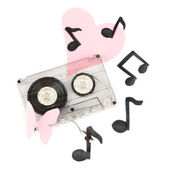 Old cassette isolated on white — Stock Photo