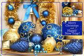 Christmas decorations close up — Zdjęcie stockowe