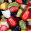 Fruit salad in plate close-up — Stock Photo #33944971