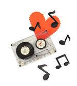 Cassette viejo aislado en blanco — Foto de Stock