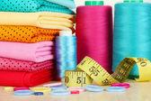 Cloth fabrics close up — Stock Photo