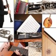 collage des instruments de musique — Photo