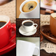 Collage of delicious coffee — Stock Photo #34101765