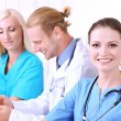 Medical team during meeting in office — Stock Photo #34111765