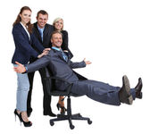 Group of business people isolated on white — Stock Photo