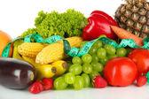 Légumes frais isolés sur blanc — Photo
