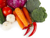 Composition of different vegetables isolated on white — Stock Photo