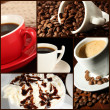 Collage of delicious coffee — Stock Photo #34409951