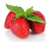 Sweet ripe strawberries isolated on white — Stock Photo