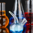 Laboratory glassware on black background — Stock Photo #34427887