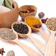 Various spices and herbs close up — Stock Photo #34428315