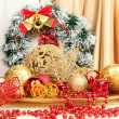 Stock Photo: Christmas decorations close up