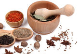 Various spices and herbs close up — Stock Photo