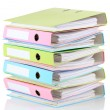 Colorful folders, isolated on white — Stock Photo