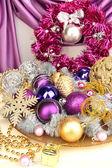 Christmas decorations close up — Stock Photo