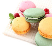 Gentle macaroons isolated on white — Stock Photo