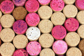 Wine corks close-up background — Stock Photo