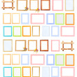 Collection of  frames isolated on white — Foto Stock