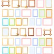 Collection of  frames isolated on white — 图库照片