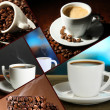 Collage of delicious coffee — Stock Photo #34632855