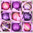 Beautiful packaged Christmas balls, close up — Photo #34636369
