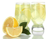 Delicious lemonade isolated on white — Stock Photo