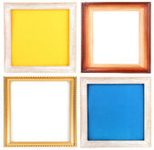 Collection of frames isolated on white — Foto de Stock
