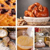 Homemade baking collage — Stock Photo