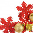 Beautiful Christmas decorations isolated on white — Stock Photo