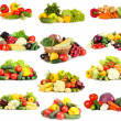 Collage of vegetables isolated on white — Stock Photo
