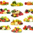 Collage of vegetables isolated on white — Stock Photo #34844255