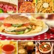 Tasty food collage — Stock Photo