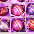 Stockfoto: Beautiful packaged Christmas toys, close up