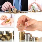 Finance concept collage — Stock Photo