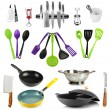 Kitchen tools collection isolated on white — Stock Photo