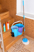 House cleaning equipment with mop — Stock Photo