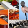 Musical collage — Stock Photo