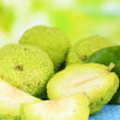 Osage Orange fruits (Maclura pomifera), on nature background — Stock Photo