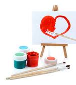 Malování dodává izolované na bílém — Stock fotografie