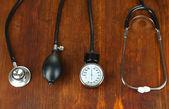 Tonometer e estetoscópio — Foto Stock