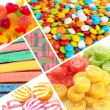 Collage of different colorful candy and sweets — Stock Photo #35001633