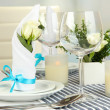 Table arrangement in restaurant — Stock Photo #35005379