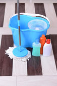 House cleaning with mop — Stock Photo