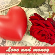 Concept of love and money — Stock Photo #35010825