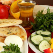 Traditional Turkish breakfast close up — Stock Photo #35018293