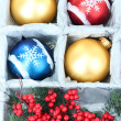 Beautiful packaged Christmas toys, close up — Stock Photo #35019093
