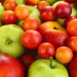 Stock Photo: Juicy fruits background