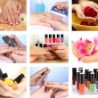 Collage of beautiful woman manicure — Stock Photo #35033003