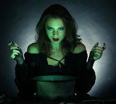 Halloween on dark background — Stock Photo