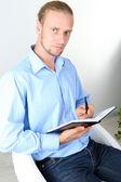 Portret van succesvolle psycholoog of zakenman — Stockfoto